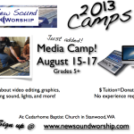 New Sound Worship Camp Ads 2013 - Media